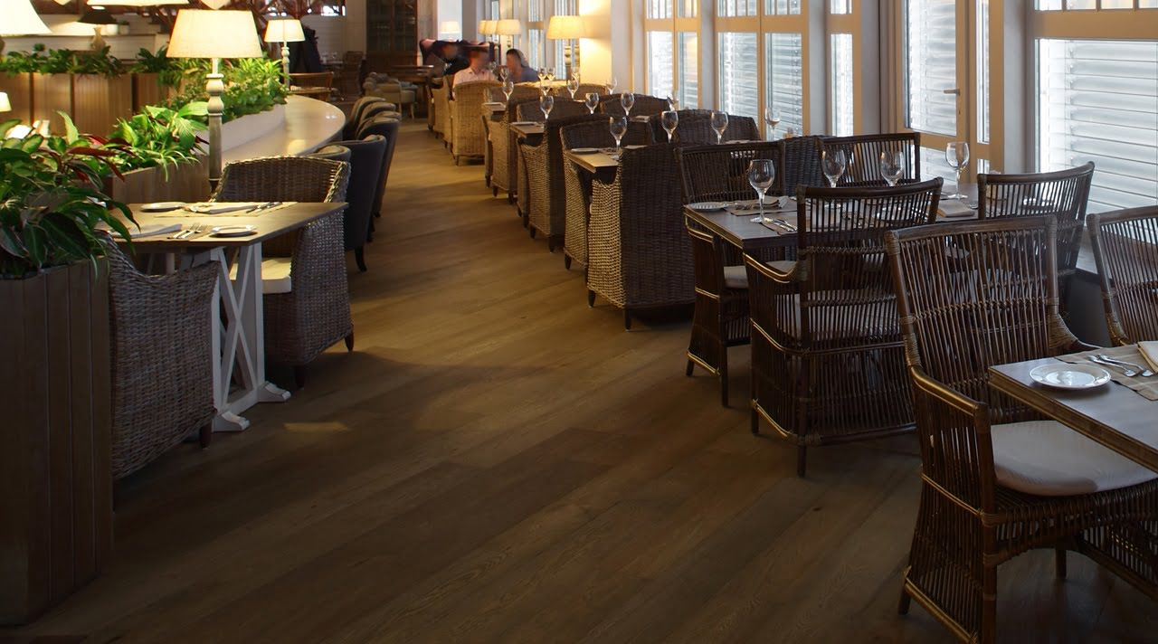 Архипол полы для ресторанов дерево термо дуб ясень